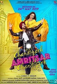 Gippy Grewal and Sargun Mehta in Chandigarh Amritsar Chandigarh (2019)