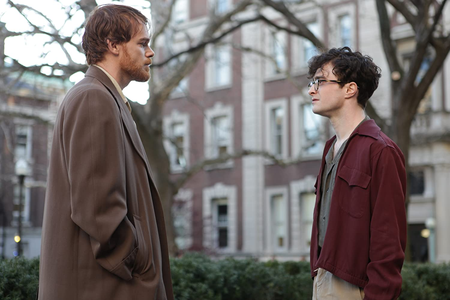 Michael C. Hall and Daniel Radcliffe in Kill Your Darlings (2013)