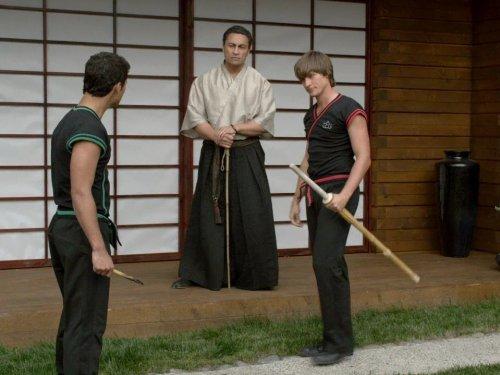 Rene Naufahu, Hector David Jr., and Alexander P. Heartman in Power Rangers Samurai (2011)