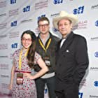 Actress Kaci Beeler with Director Matt Muir and Co-Star James Hand for Thank You A Lot at the 2014 Dallas International Film Festival.