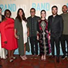 Majandra Delfino, Colin Hanks, Fred Armisen, Retta, Jesse Williams, Adam Pally, Zoe Lister-Jones, Brooklyn Decker, and Angelique Cabral at an event for Band Aid (2017)