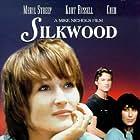 Cher, Kurt Russell, and Meryl Streep in Silkwood (1983)
