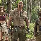 Kevin Hart, Dwayne Johnson, and Karen Gillan in Jumanji: Welcome to the Jungle (2017)