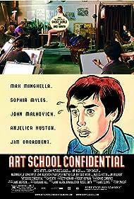 Jeanette Brox, Shelly Cole, Matt Keeslar, Sophia Myles, and Max Minghella in Art School Confidential (2006)