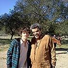 William Leon with Luis Guzman on the set of Don Quixote