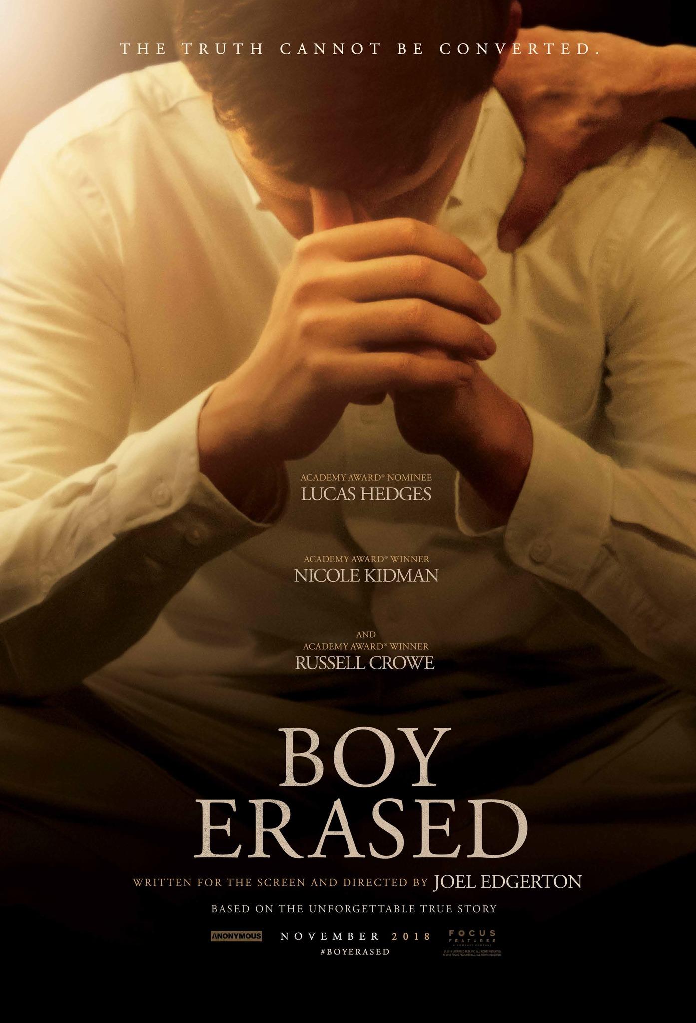 Image result for boy, erased movie poster