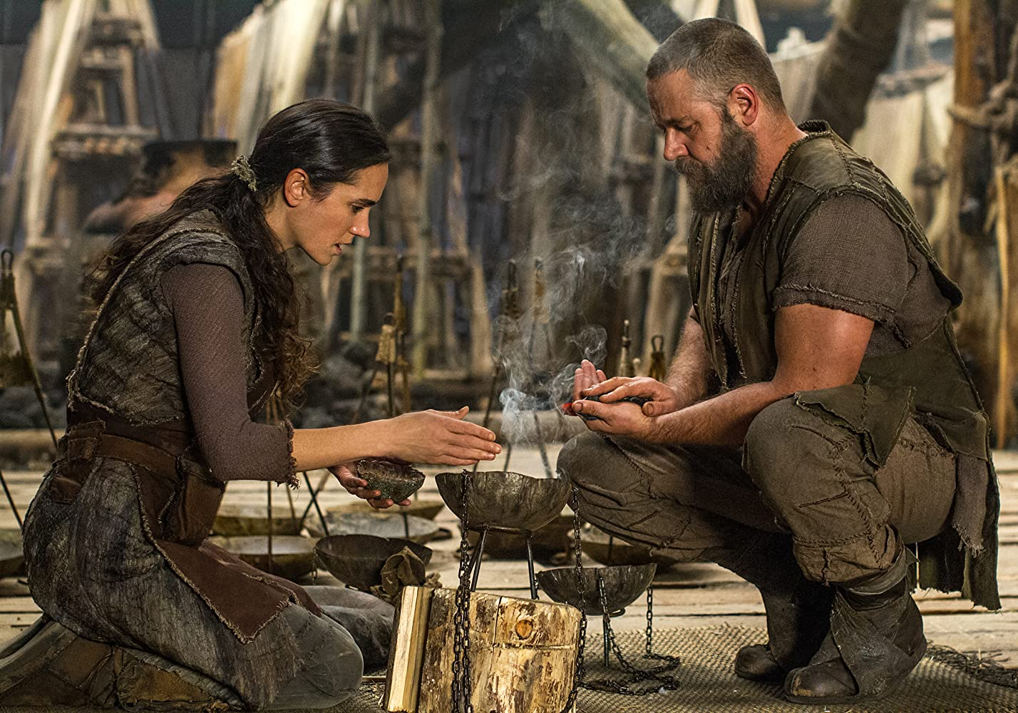 Jennifer Connelly and Russell Crowe in Noah (2014)