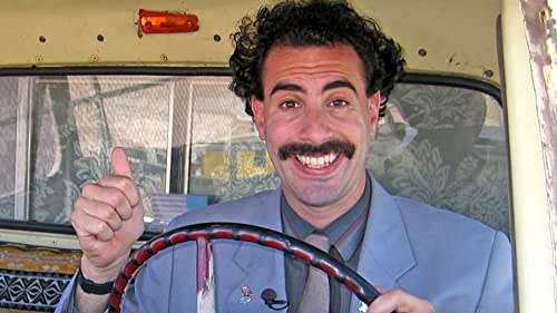 Borat returns to the United States with a gift for the American Vice President intended to return glory to his home country.
