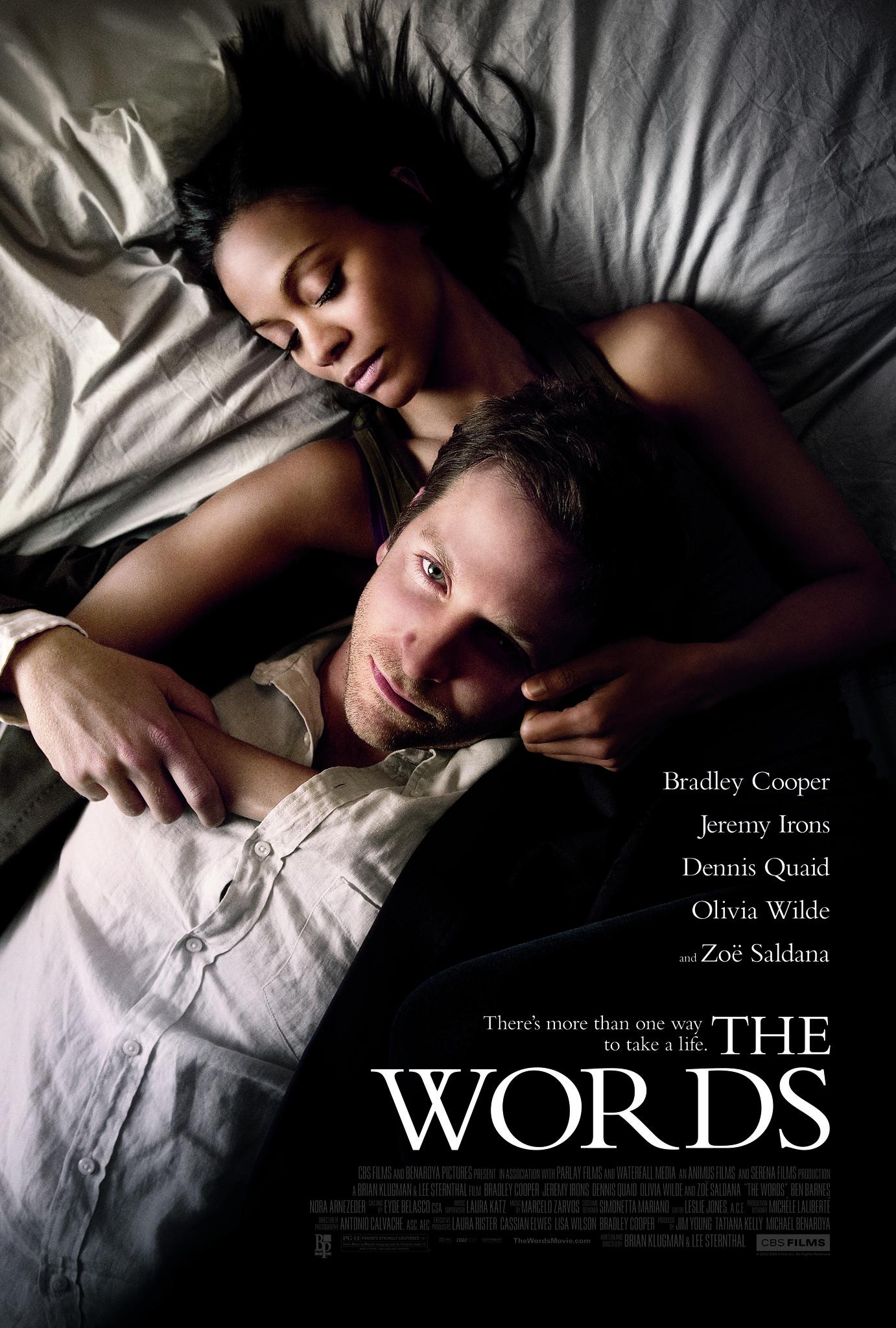 Bradley Cooper and Zoe Saldana in The Words (2012)