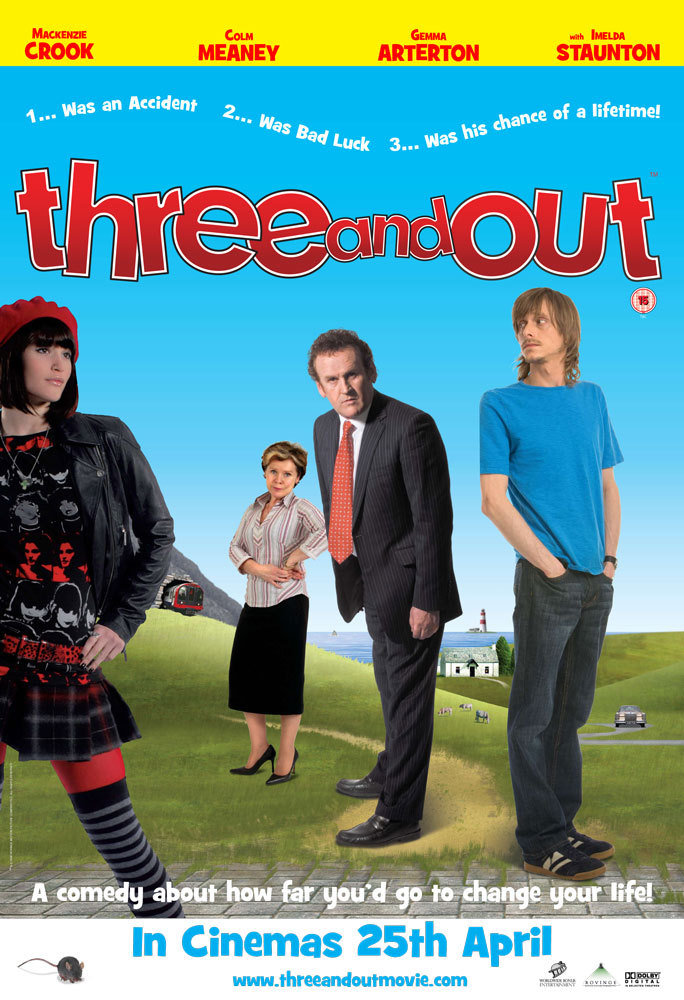 Colm Meaney, Imelda Staunton, Mackenzie Crook, and Gemma Arterton in Three and Out (2008)