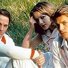 Helmut Berger, Lino Capolicchio, and Dominique Sanda in Il giardino dei Finzi Contini (1970)