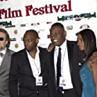 Valentin Tchaly, Scott Neufville, Patrick Jerome and Wittly Jourdan on the Red Carpet at the world Premiere of Against The Jab