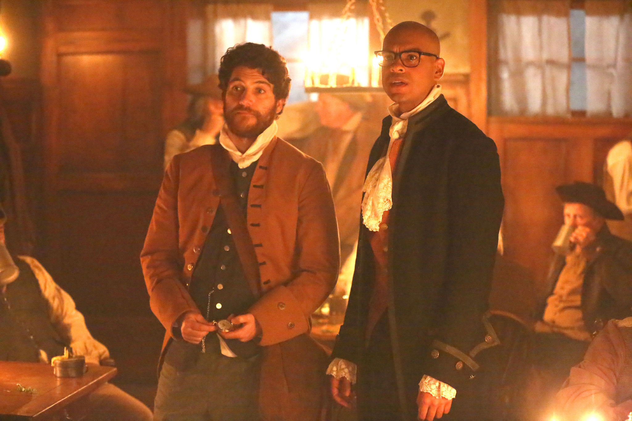 Adam Pally and Yassir Lester in Making History (2017)