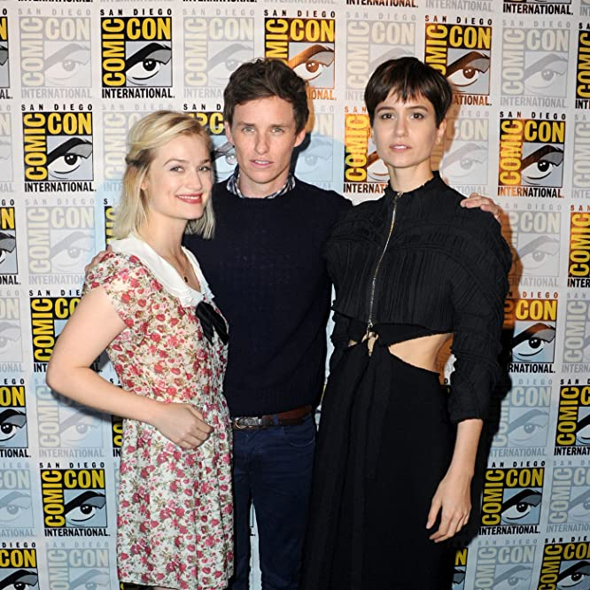 Alison Sudol, Eddie Redmayne, and Katherine Waterston at an event for Fantastic Beasts and Where to Find Them (2016)