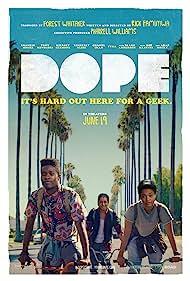Tony Revolori, Kiersey Clemons, and Shameik Moore in Dope (2015)