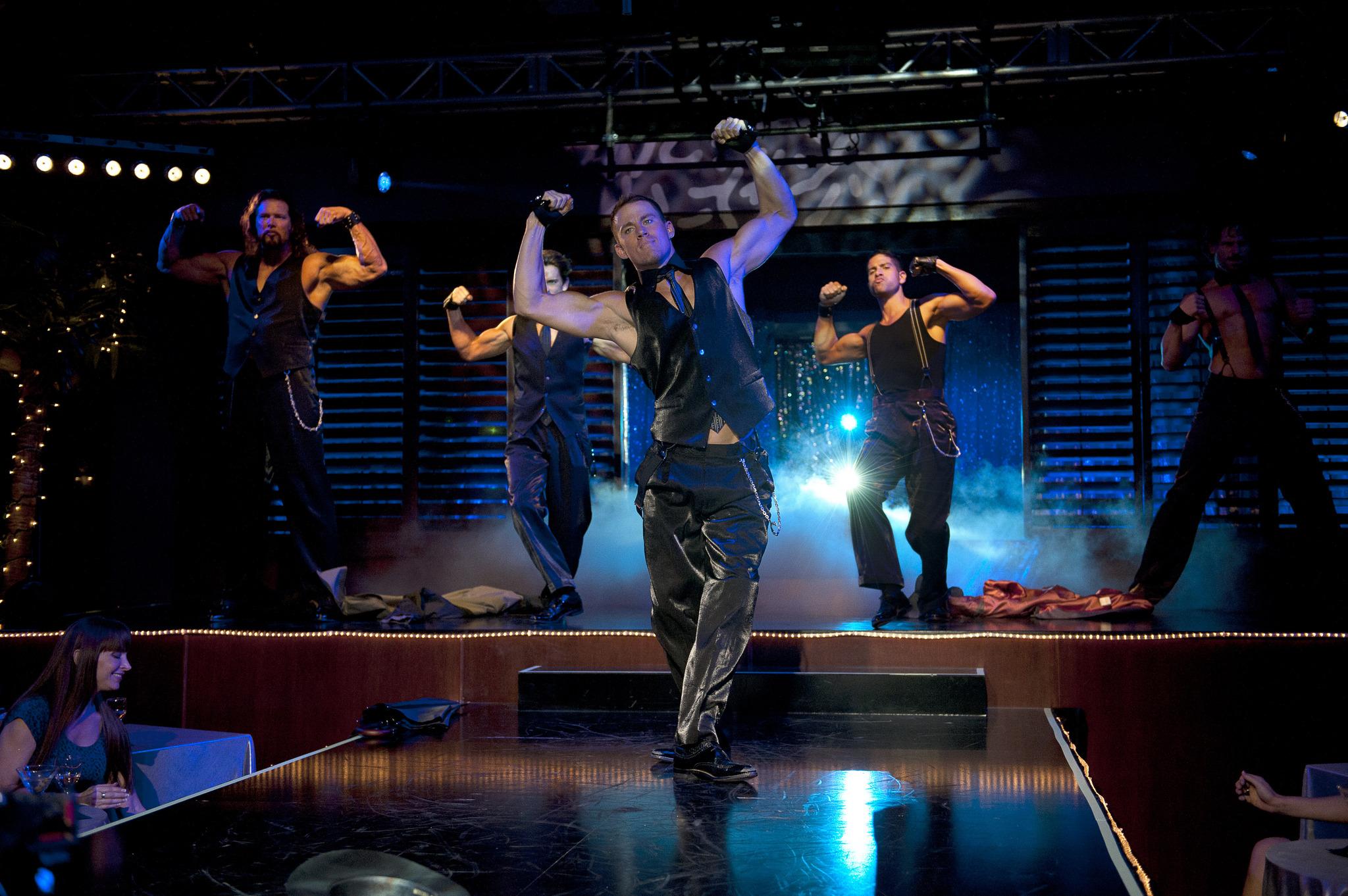 Matt Bomer, Joe Manganiello, Kevin Nash, Adam Rodriguez, and Channing Tatum in Magic Mike (2012)