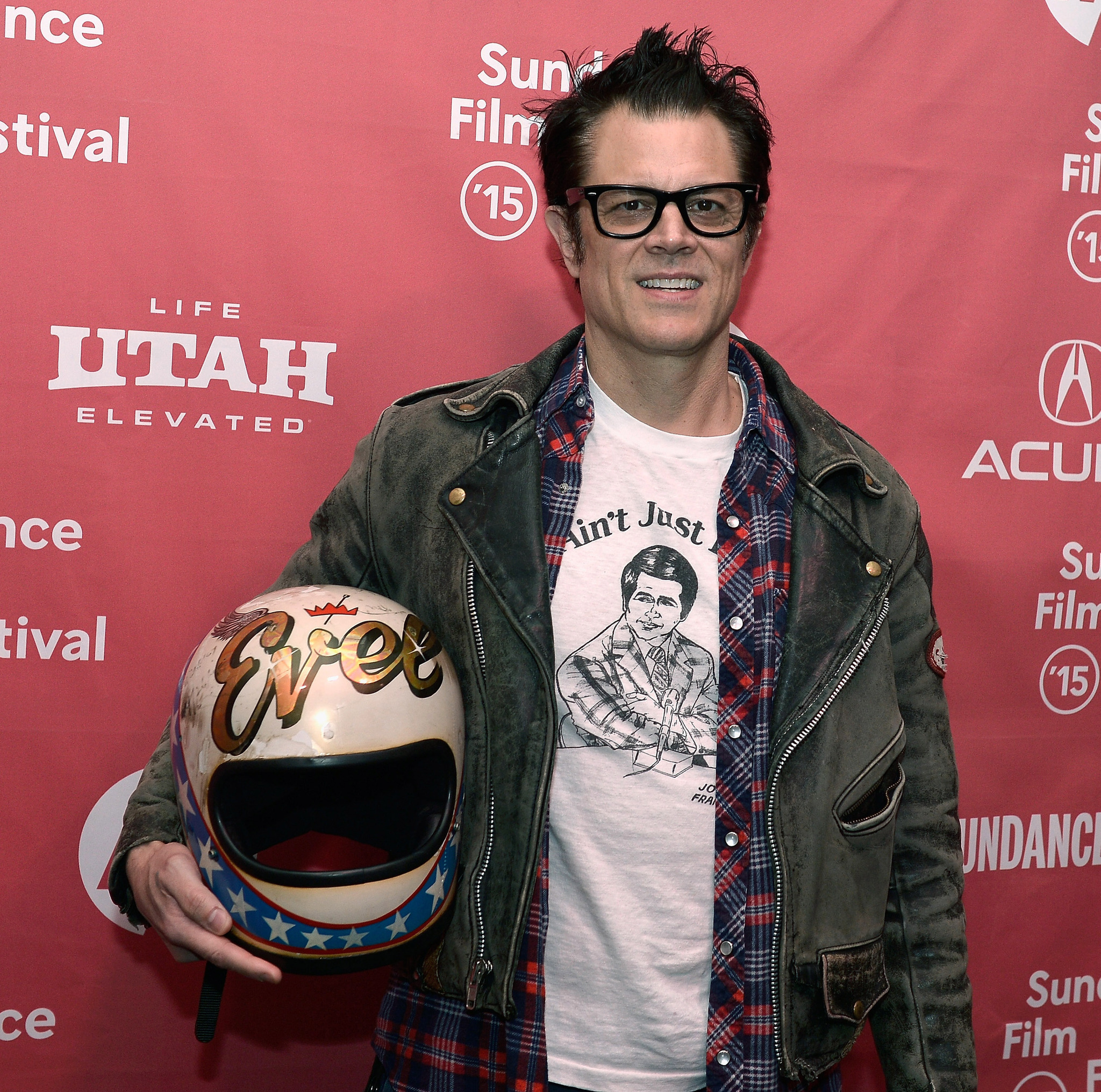 Johnny Knoxville at an event for Being Evel (2015)