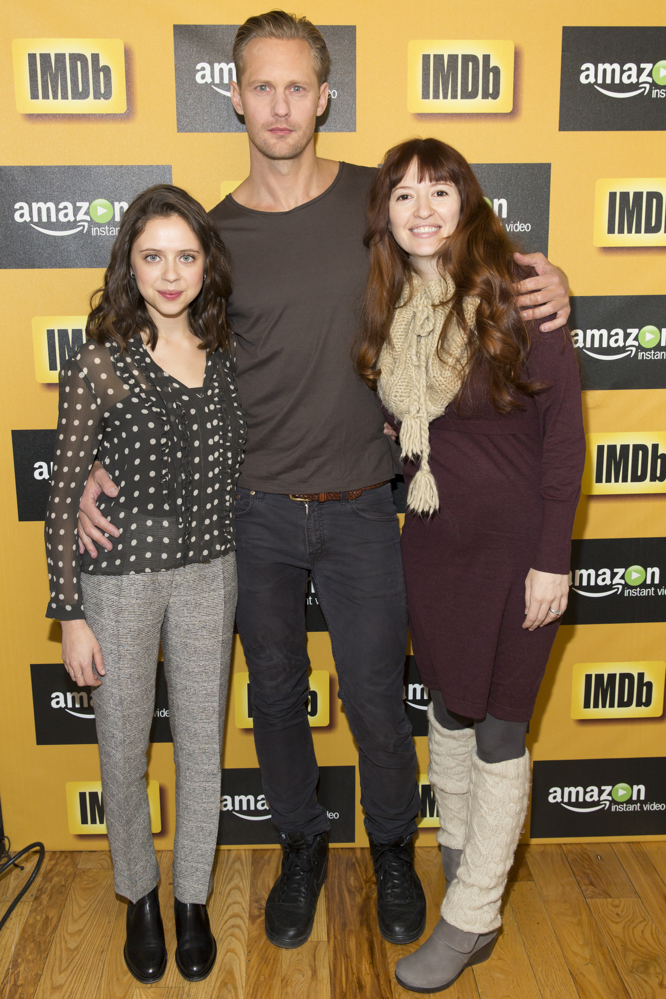 Alexander Skarsgård, Marielle Heller, and Bel Powley at an event for The IMDb Studio at Sundance (2015)