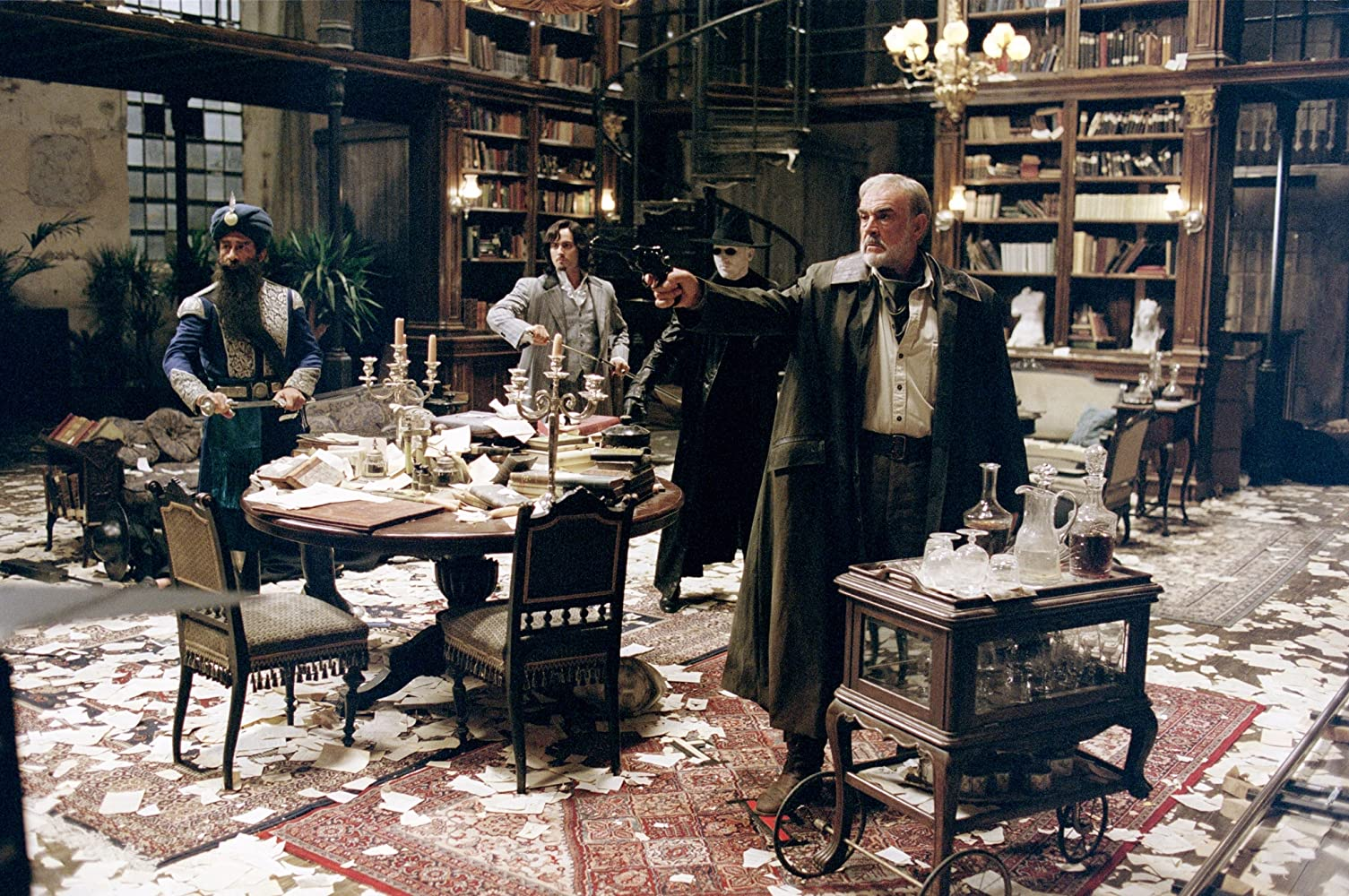 Sean Connery, Naseeruddin Shah, and Stuart Townsend in The League of Extraordinary Gentlemen (2003)