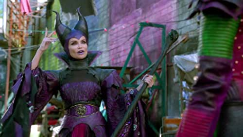 A present-day idyllic kingdom where the benevolent teenage son of King Adam and Queen Belle offers a chance of redemption for the trouble making offspring of Disney's classic villains: Cruella De Vil (Carlos), Maleficent (Mal), the Evil Queen (Evie) and Jafar (Jay).