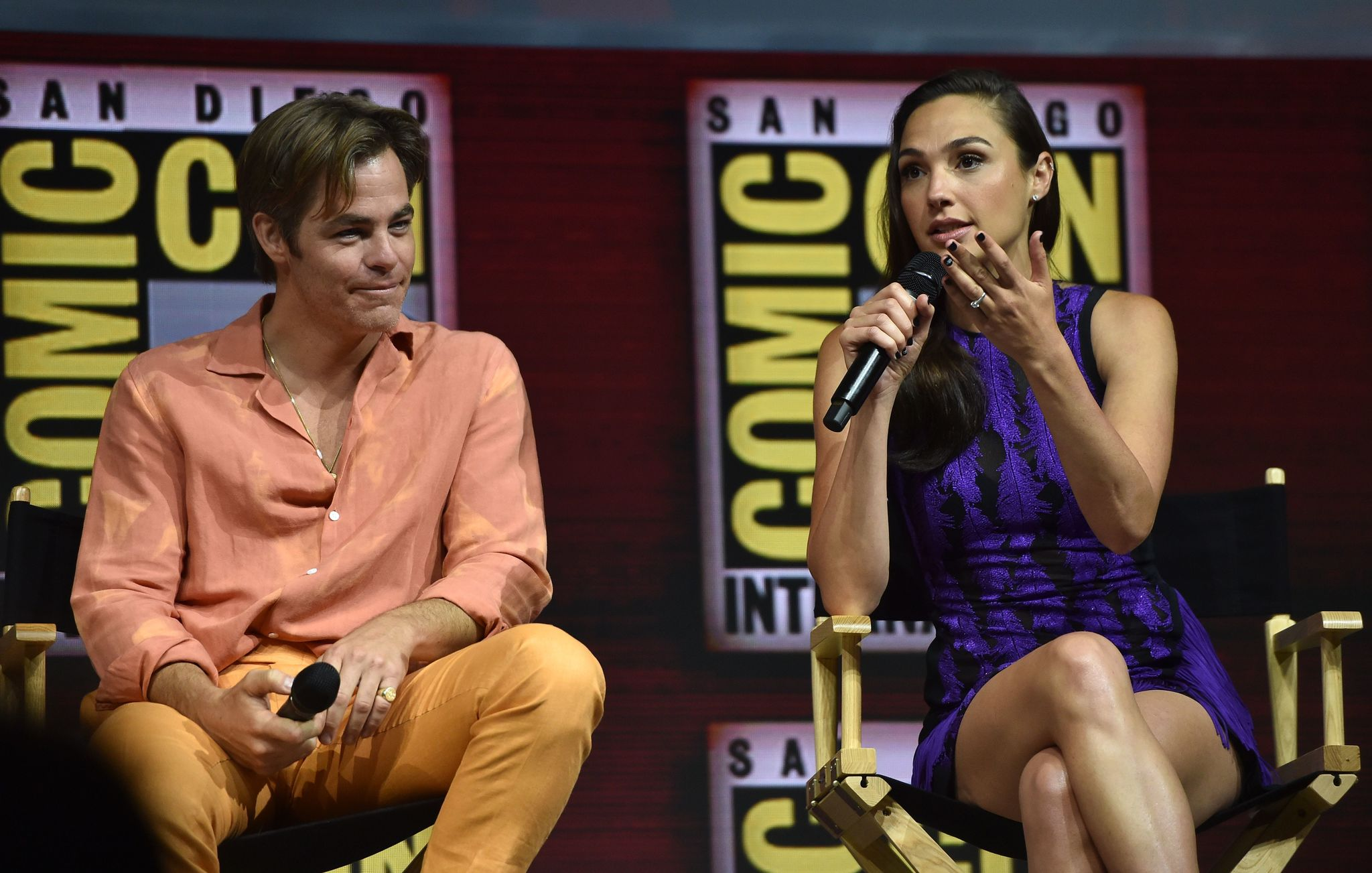 Chris Pine and Gal Gadot at an event for Wonder Woman 1984 (2020)