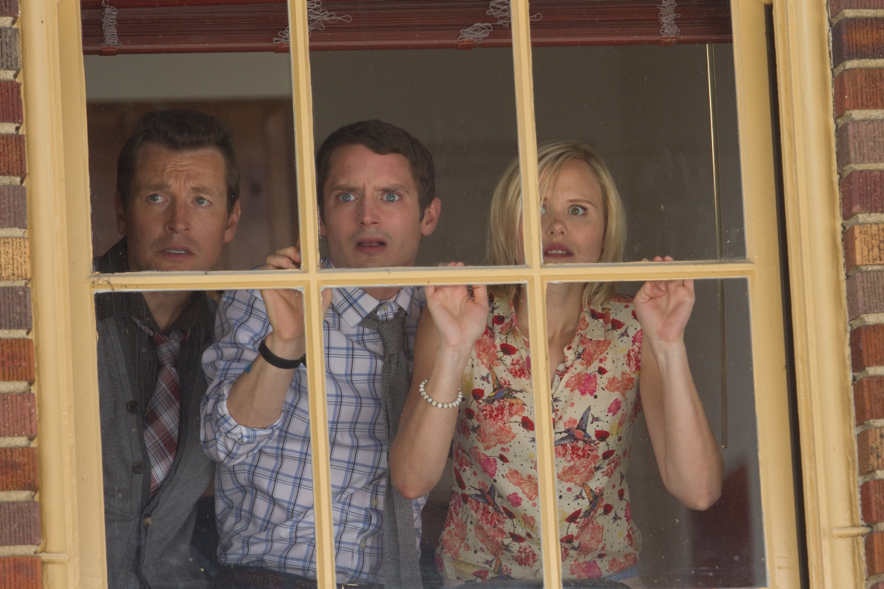 Elijah Wood, Alison Pill, and Leigh Whannell in Cooties (2014)
