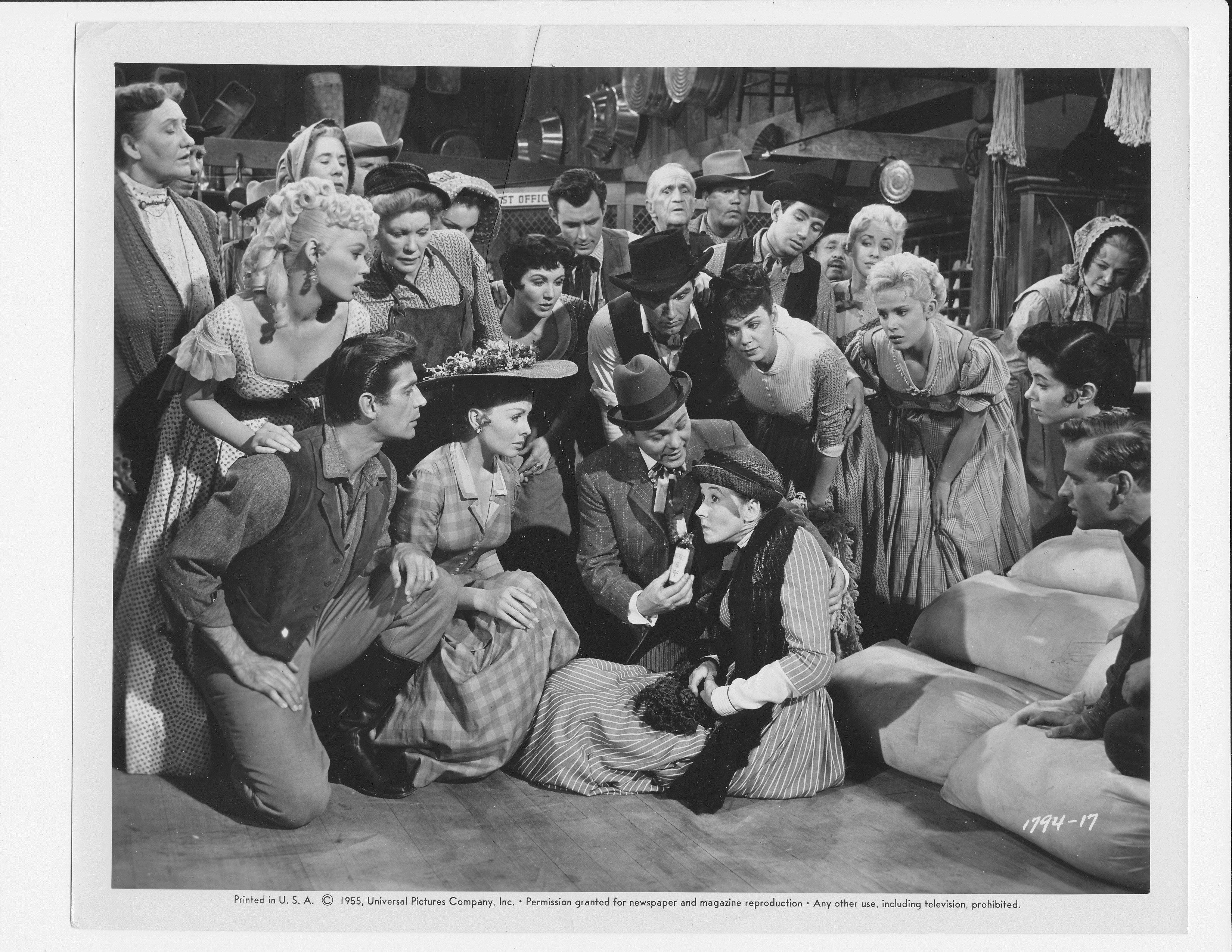 """Mamie Van Doren, George Nader, Paul Gilbert, Edna Skinner, Kitty Kallen and Barrie Chase in """"Second Greatest Sex."""""""