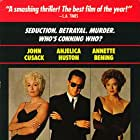 John Cusack, Annette Bening, and Anjelica Huston in The Grifters (1990)