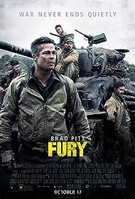 Brad Pitt, Shia LaBeouf, Logan Lerman, Michael Peña, and Jon Bernthal in Fury (2014)