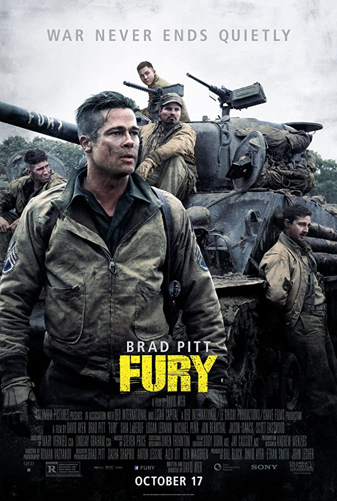 Fury 2014 Movie BluRay Dual Audio Hindi Eng 400mb 480p 1.2GB 720p 3GB 1080p
