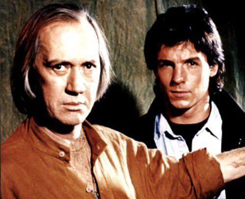 David Carradine and Chris Potter in Kung Fu: The Legend Continues (1993)