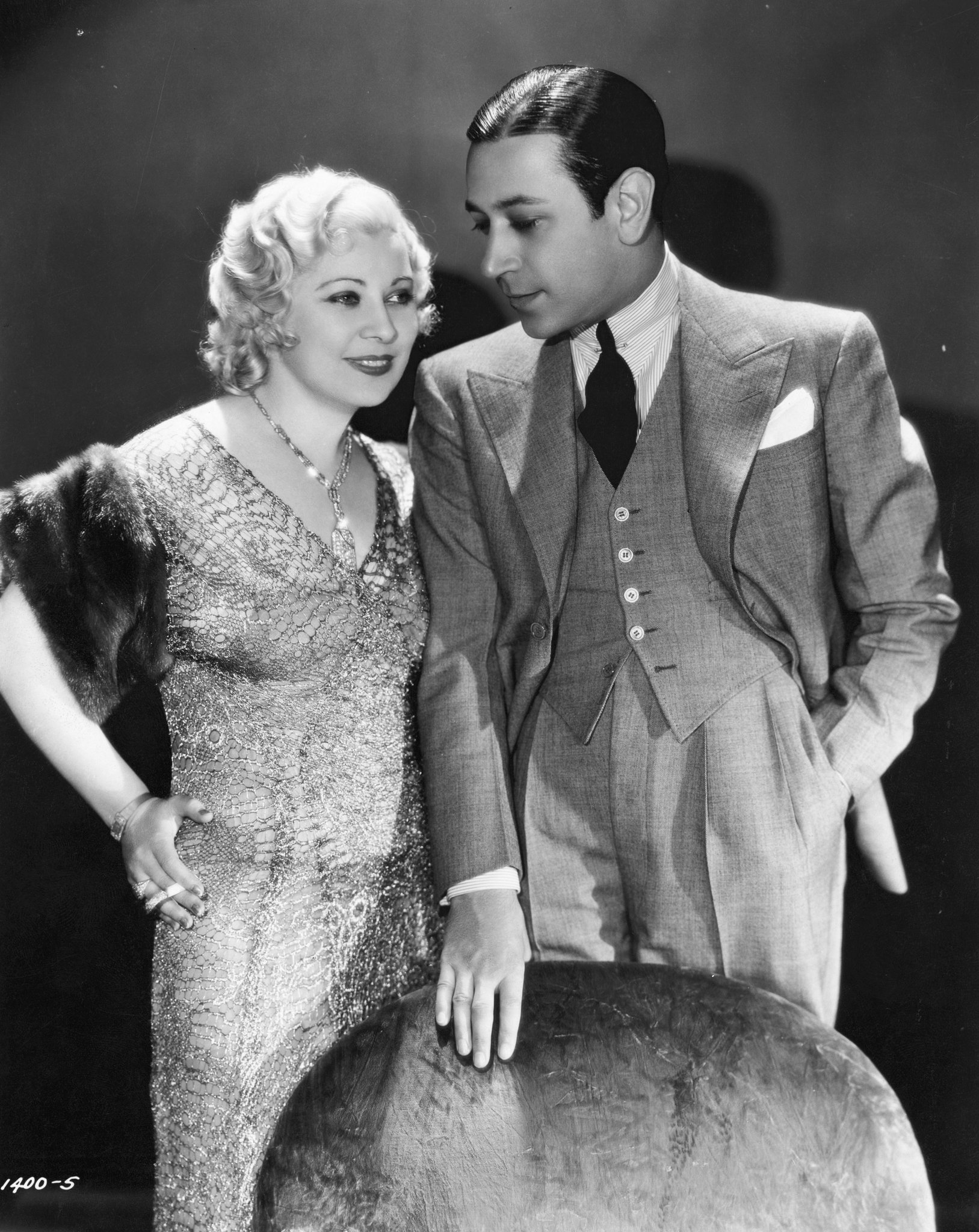 George Raft and Mae West in Night After Night (1932)