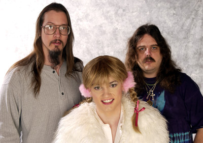 Mark Borchardt, Mike Schank, and Angel Benton at an event for Britney, Baby, One More Time (2002)