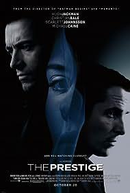 Christian Bale, Hugh Jackman, and Scarlett Johansson in The Prestige (2006)