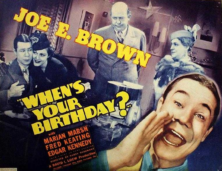 Joe E. Brown, Maude Eburne, Suzanne Kaaren, and Edgar Kennedy in When's Your Birthday? (1937)
