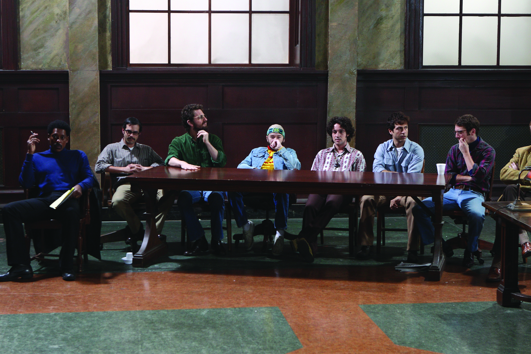 Danny Masterson, Thomas Ian Nicholas, Jamie Elman, Andy Hirsch, Orlando Jones, David Julian Hirsh, and Aaron Abrams in The Chicago 8 (2011)