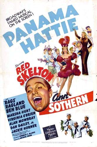 Ben Blue, Rags Ragland, Red Skelton, and Ann Sothern in Panama Hattie (1942)