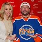 Lisa Kudrow and Kevin Smith at an event for Misery Loves Comedy (2015)
