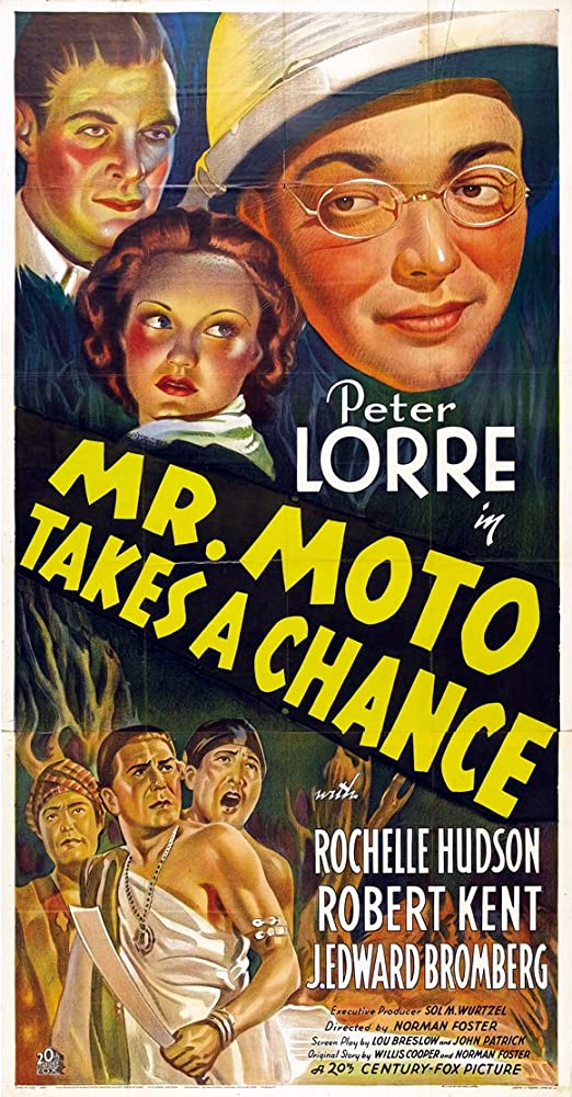 Peter Lorre, Rochelle Hudson, Robert Kent, and Al Kikume in Mr. Moto Takes a Chance (1938)