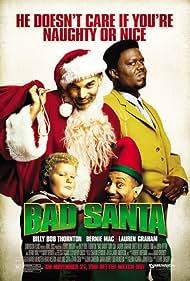 Billy Bob Thornton, Bernie Mac, Tony Cox, and Brett Kelly in Bad Santa (2003)