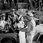 """""""Operation Pacific,"""" Warner Bros. 1950. Ward Bond, Patricia Neal, and John Wayne."""