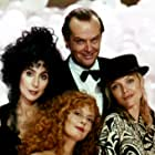 Jack Nicholson, Michelle Pfeiffer, Susan Sarandon, and Cher at an event for The Witches of Eastwick (1987)
