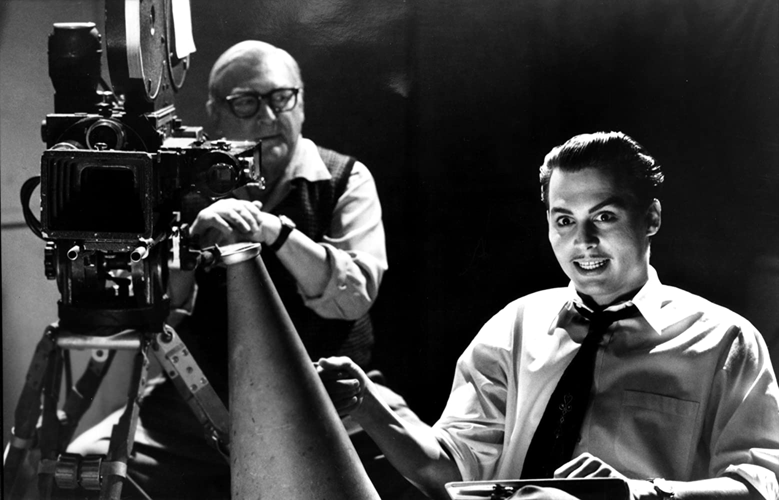 Johnny Depp and Norman Alden in Ed Wood (1994)