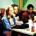 (L-R) Anna Kendrick (Fritzi), Joanna Chilcoat (Ellen), Robin De Jesus (Michael) and Tiffany Taylor (Jenna)