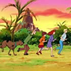 Grey Griffin, Scott Innes, B.J. Ward, and Frank Welker in Scooby-Doo and the Cyber Chase (2001)