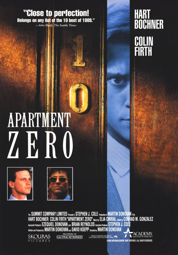 Colin Firth and Hart Bochner in Apartment Zero (1988)