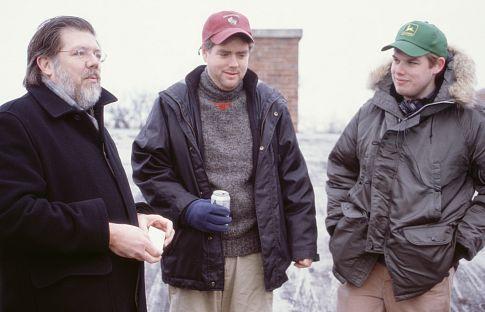 Producer John Hughes, John's son - writer James Hughes, and director Kyle Cooper