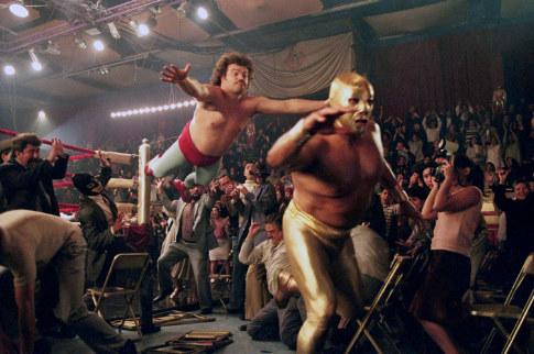 Jack Black and Cesar Gonzalez in Nacho Libre (2006)
