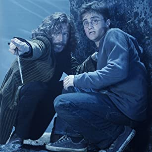 Gary Oldman and Daniel Radcliffe in Harry Potter and the Order of the Phoenix (2007)