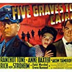 Anne Baxter, Erich von Stroheim, and Franchot Tone in Five Graves to Cairo (1943)